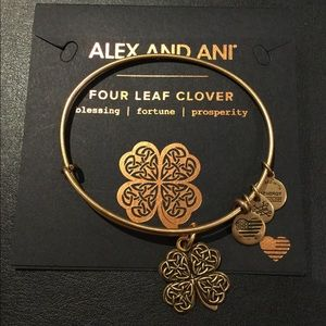 Alex and Ani Four Leaf Clover Bangle